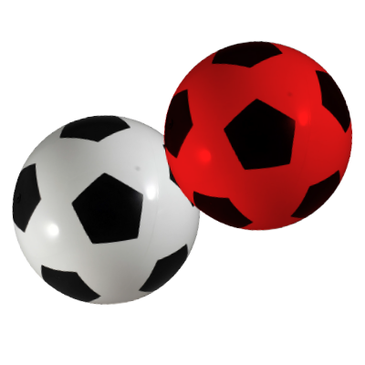 decorated soccer heavy weight play balls